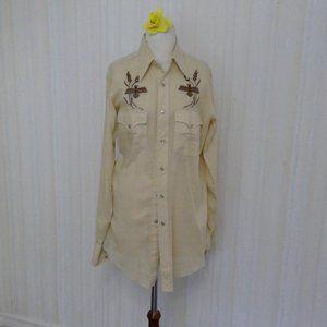 Tan lightweight western mens shirt